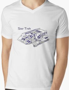 Star Trek Shuttle Mens V-Neck T-Shirt