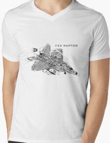 F22 Raptor Mens V-Neck T-Shirt