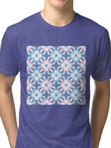 The pattern of flowers Tri-blend T-Shirt