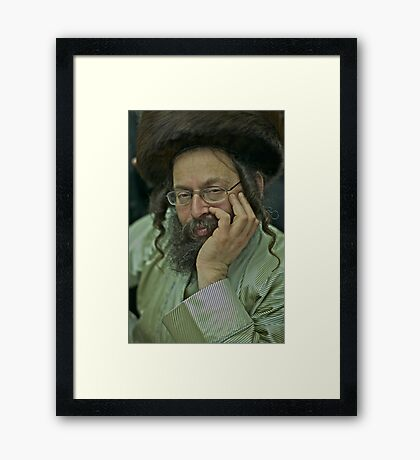 7 ★★★★★. My features Art that I LOVE!! Hey you man ! your roots and your Mother must be Jewish ! that's told me this wonderful Rabi  from Yerusalem !  by  Doktor Faustus.   Views: 403. Thx! Framed Print