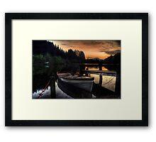 Golden Sunset over Loch Ard Framed Print