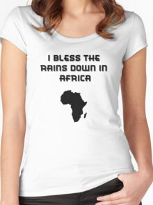 I Bless The Rains Down In Africa Women's Fitted Scoop T-Shirt