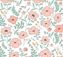 Elegant seamless pattern with flowers by Ana Marques