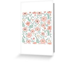 Elegant seamless pattern with flowers Greeting Card