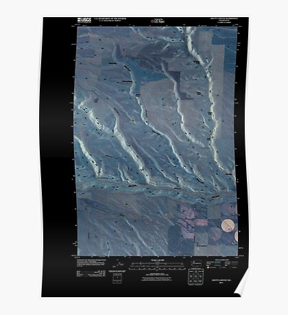 USGS Topo Map Washington State WA Douty Canyon 20110407 TM Inverted Poster
