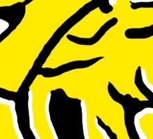 Power Rangers Wild Force Yellow Emblem Sticker