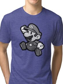 Olde Timey Mario Tri-blend T-Shirt