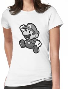 Olde Timey Mario Womens Fitted T-Shirt
