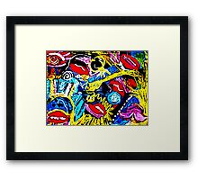 Your Lips Lie Abstract Framed Print