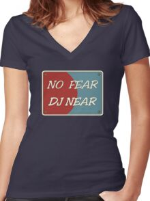 No Fear DJ Nere Women's Fitted V-Neck T-Shirt