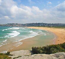 curl curl beach by Floralynne