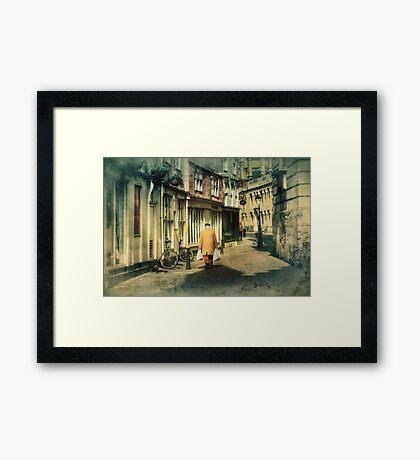 Back Streets Framed Print
