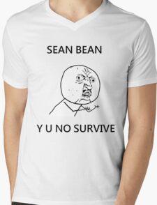 Sean Bean Y U NO Mens V-Neck T-Shirt