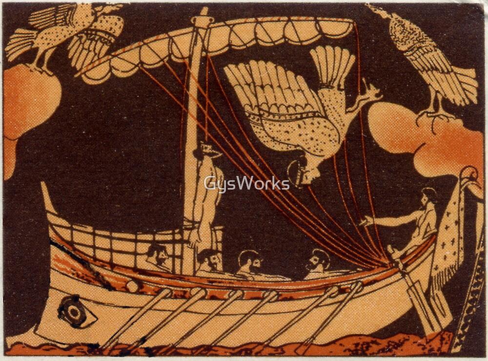 Odysseus with Sirens by GysWorks