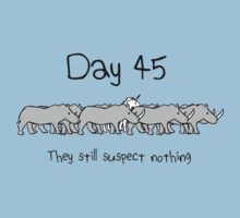 Day 45. They still suspect nothing. (Unicorn + Rhinos) by jezkemp