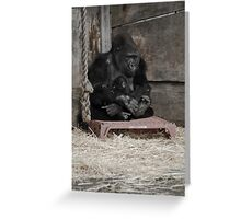 Mother & Baby Gorilla Greeting Card