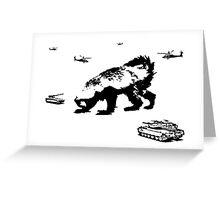 Honey Badger Zilla Greeting Card