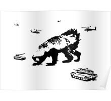 Honey Badger Zilla Poster