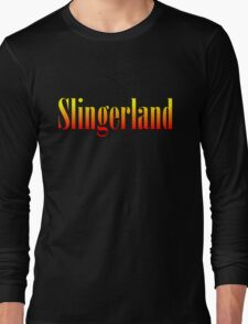 Vintage Slingerland Colorful Long Sleeve T-Shirt