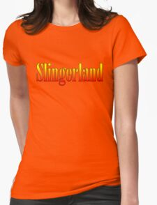 Vintage Slingerland Colorful Womens Fitted T-Shirt