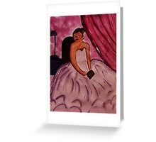 Day Dreaming, watercolor Greeting Card