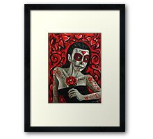 Day of the Dead Girl Painting 1 Framed Print