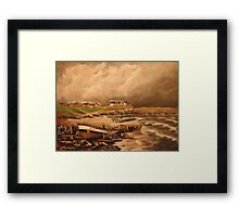 Cullercoats, England from an Engraving 1880 Framed Print