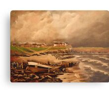 Cullercoats, England from an Engraving 1880 Metal Print