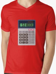 5318008 Leet Calculator Mens V-Neck T-Shirt