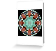 Kaleidoscope Peacock Butterfly Greeting Card