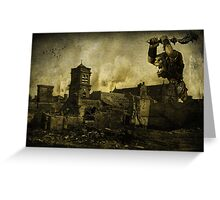 Rise Of The Ogre Greeting Card
