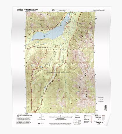 USGS Topo Map Washington State WA Bumping Lake 240269 2000 24000 Poster