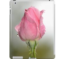 Pink Bud After The Rain iPad Case/Skin