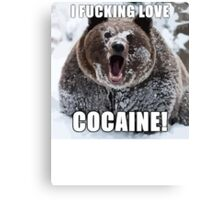 Bear Meme Canvas Print