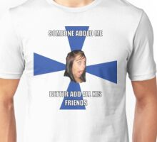 facebook girl meme Unisex T-Shirt