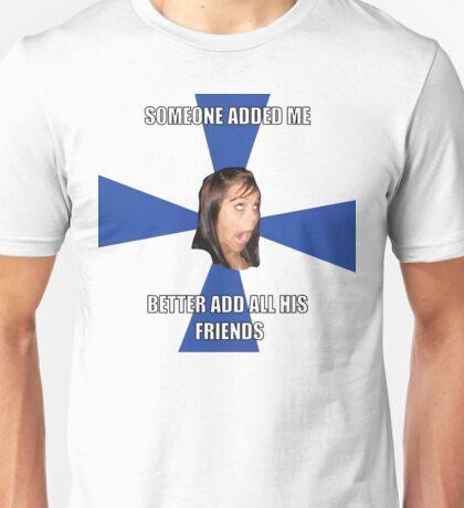 facebook girl meme Unisex T-Shirt