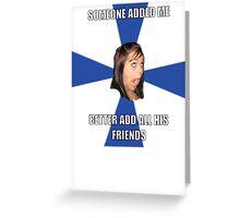 facebook girl meme Greeting Card