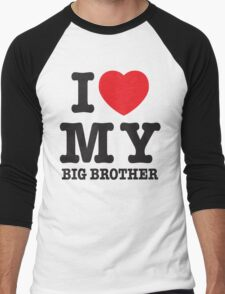 I love my big brother Men's Baseball ¾ T-Shirt