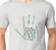 Massage Hand (greens) Unisex T-Shirt