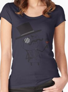 Monocle meme for light color shirts Women's Fitted Scoop T-Shirt