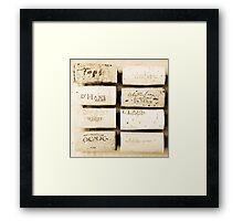 Wine Cork Collection Framed Print