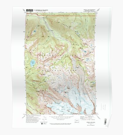 USGS Topo Map Washington State WA Mowich Lake 242606 1971 24000 Poster