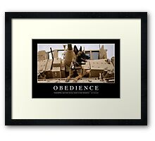Obedience: Inspirational Quote and Motivational Poster Framed Print
