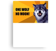 One Wolf No Moon Canvas Print