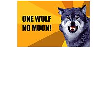 One Wolf No Moon Photographic Print
