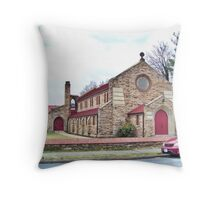 Woodstock Christian Church Throw Pillow