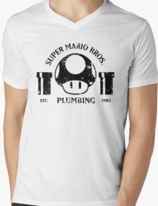 Super Mario Bros. Plumbing Mens V-Neck T-Shirt