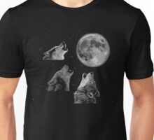 Three wolf one moon Unisex T-Shirt