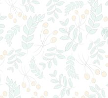 Seamless pattern with leaves in vintage style by Ana Marques