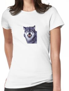 wolf meme Womens Fitted T-Shirt